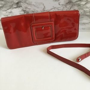APT 9 Red Patent Leather buckle purse